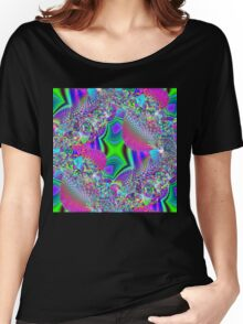 Vaporwave-Seamless Fractal Fragments Women's Relaxed Fit T-Shirt