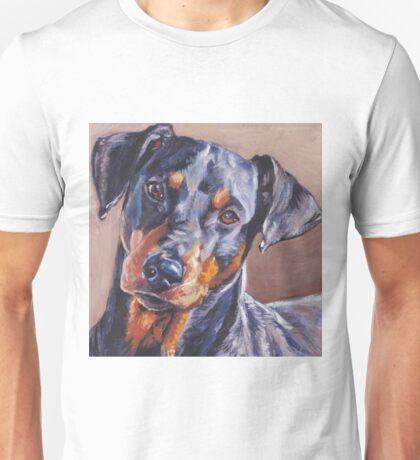 German Pinscher Fine Art Painting Unisex T-Shirt