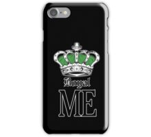 Royal Me - Green (2) iPhone Case/Skin