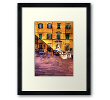 THE WATER FOUNTAIN LUCCA Framed Print