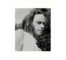 Portrait of a Camera Shy Guy Art Print