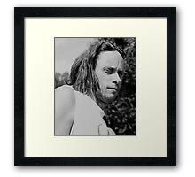 Portrait of a Camera Shy Guy Framed Print