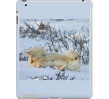 Yoga Bear side bite iPad Case/Skin