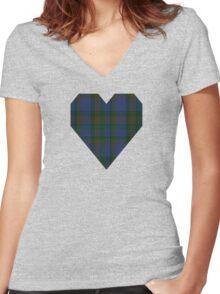 00116 Nova Scotia District Tartan  Women's Fitted V-Neck T-Shirt
