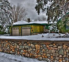 The House With The Stone Wall by Diana Graves Photography