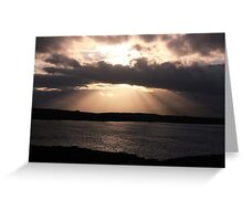 Rays of God Greeting Card