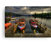 boat dock HDR Canvas Print
