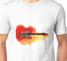 Watercolor guitar Unisex T-Shirt