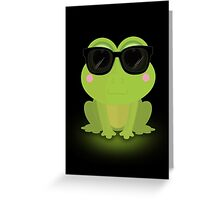 Cool Frog Greeting Card