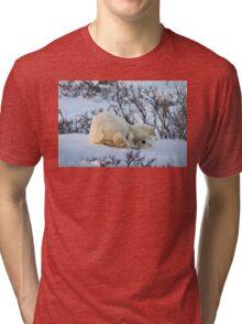 Yoga Bear twist Tri-blend T-Shirt