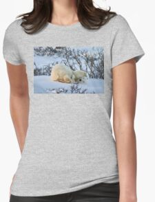 Yoga Bear twist Womens Fitted T-Shirt