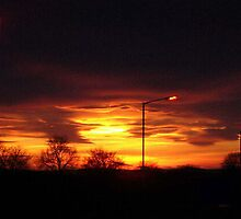 Fiery Sky by Dawn (Paris) Gillies
