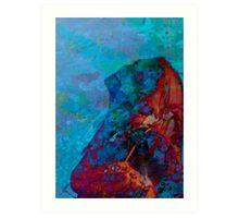 Colourfull Imagining - studio Portrait Art Print