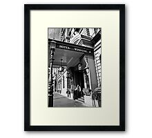 The Windsor Hotel Doorman - Melbourne Framed Print