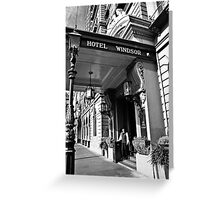 The Windsor Hotel Doorman - Melbourne Greeting Card