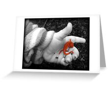 Smallest hand...biggest World Greeting Card