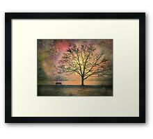 And the Morning is Perfect in all Her Measured Wrinkles Framed Print