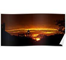 Sunrise over Allen, TX Poster