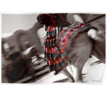Elegant spanish swirl Poster