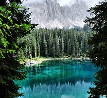 Dolomites Lake reflections by Francesco Malpensi