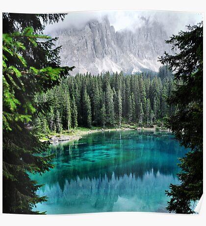 Dolomites Lake reflections Poster
