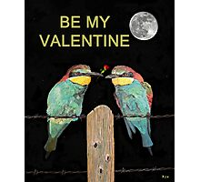Bee Eaters Be My Valentine Photographic Print