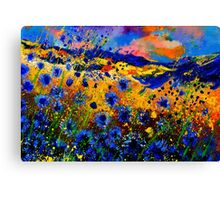 blue  cornflowers 746 Canvas Print
