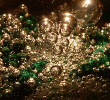 Macro paperweight - backlit bubbles by AJWPhotography