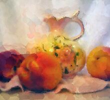 Prussian Pitcher with Peaches by suzannem73