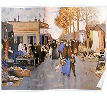 Le Marche au Puces, St Ouen, Paris from Loir Poster