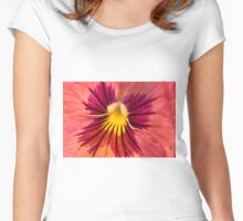 Pansy Macro  Women's Fitted Scoop T-Shirt