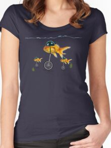 gold fish 3 Women's Fitted Scoop T-Shirt