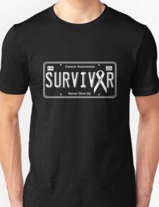 Cancer Survivor License Plate Shirt  T-Shirt