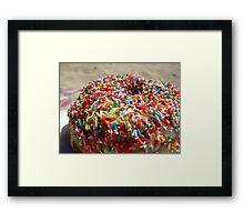 Doughnut and Sprinkles Framed Print