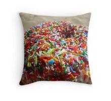 Doughnut and Sprinkles Throw Pillow