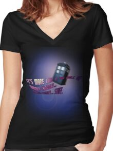 Wibbly-wobbly... timey-wimey... stuff. - Doctor Who Women's Fitted V-Neck T-Shirt