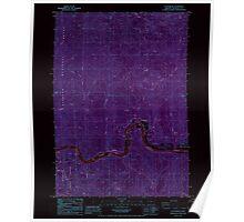 USGS Topo Map Oregon Scottsburg 281428 1985 24000 Inverted Poster