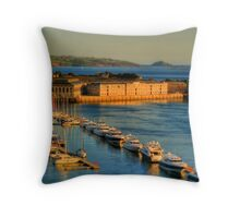 Gulliver's Travels to The Royal William Yard Throw Pillow