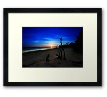 to the  start of a new day Framed Print