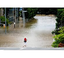 "Brisbane floods - Cultural Centre, South Brisbane or ""How do I get to my Latte!"" Photographic Print"