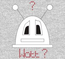 Robot (Watt? Incredulous eyes) Filled face Kids Tee