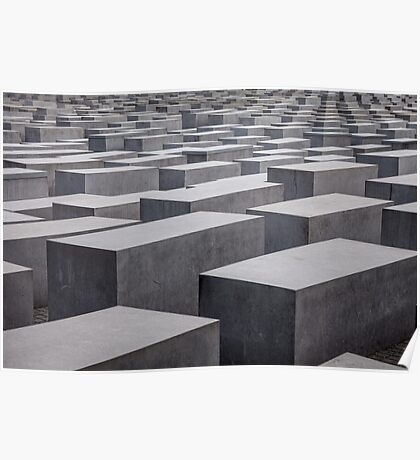 Holocaust Memorial, Berlin, Germany Poster