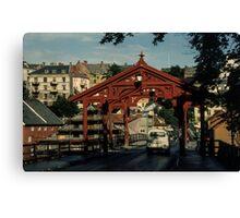 Old River Bridge Trondheim Norway 19840622 0036 Canvas Print