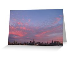 City Skyline - Pink Greeting Card