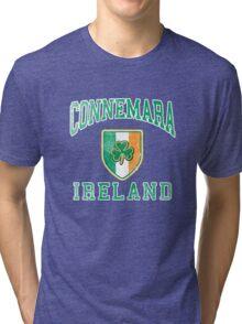 Connemara, Ireland with Shamrock Tri-blend T-Shirt