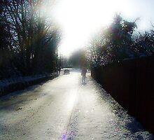 Winter morning - Horseshoe Lane Chipping Sodbury by lizziekench