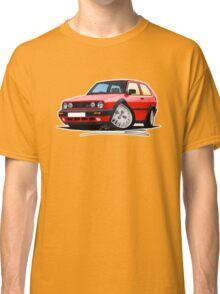 VW Golf GTi (Mk2) Red Classic T-Shirt