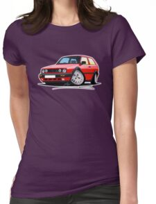 VW Golf GTi (Mk2) Red Womens Fitted T-Shirt
