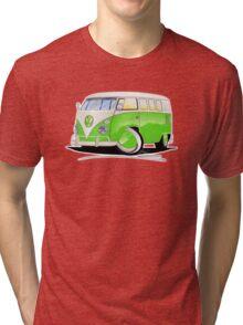 VW Splitty (11 Window) Lime Green Tri-blend T-Shirt