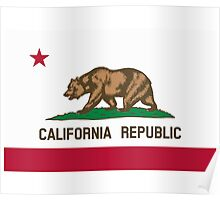 California USA State Flag Bedspread Duvet T-Shirt - Californian Sticker Poster